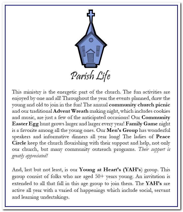 parish life info web